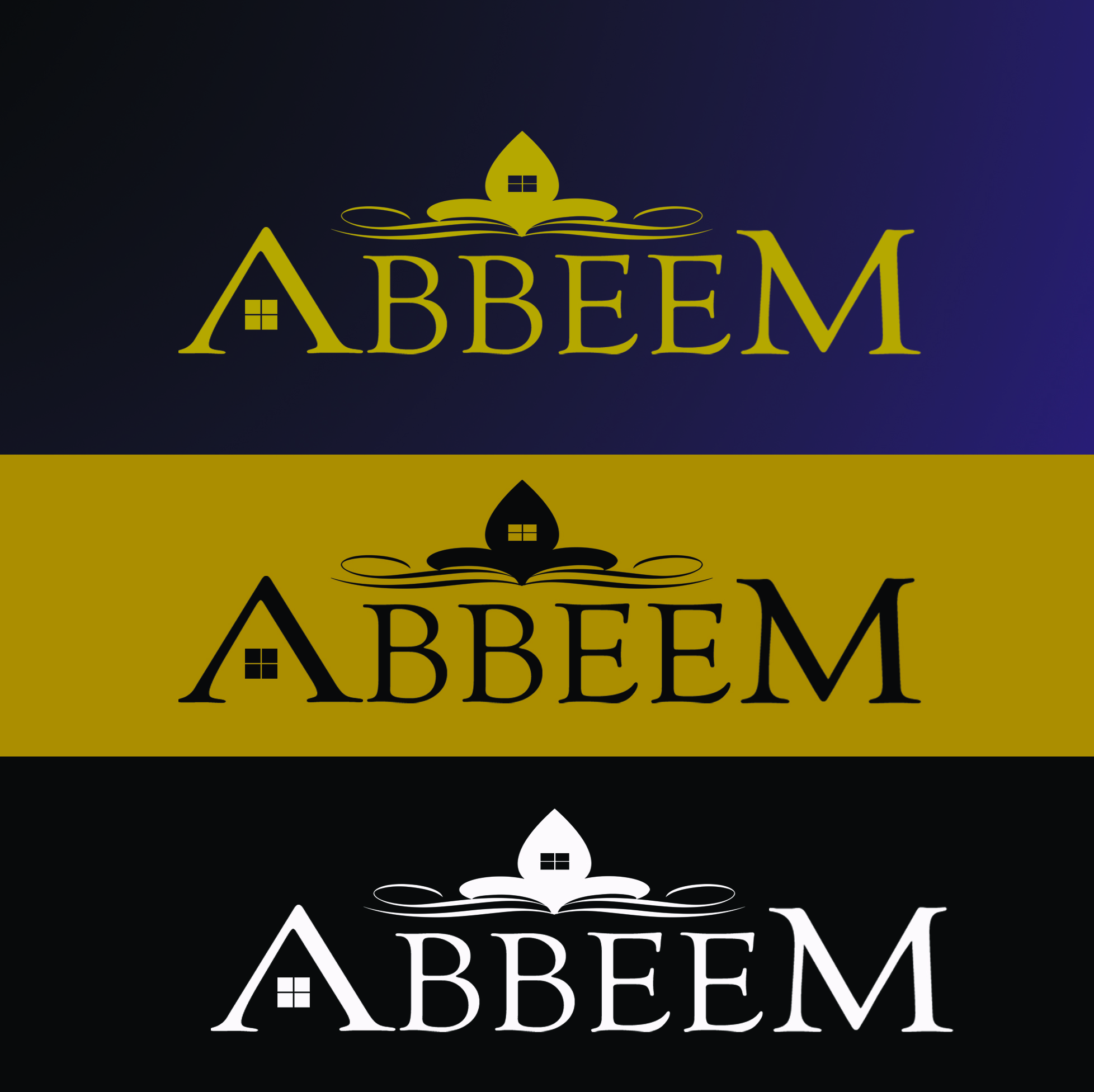Logo Design by Arqui ACOSTA - Entry No. 103 in the Logo Design Contest Luxury Logo Design for Abbeem.