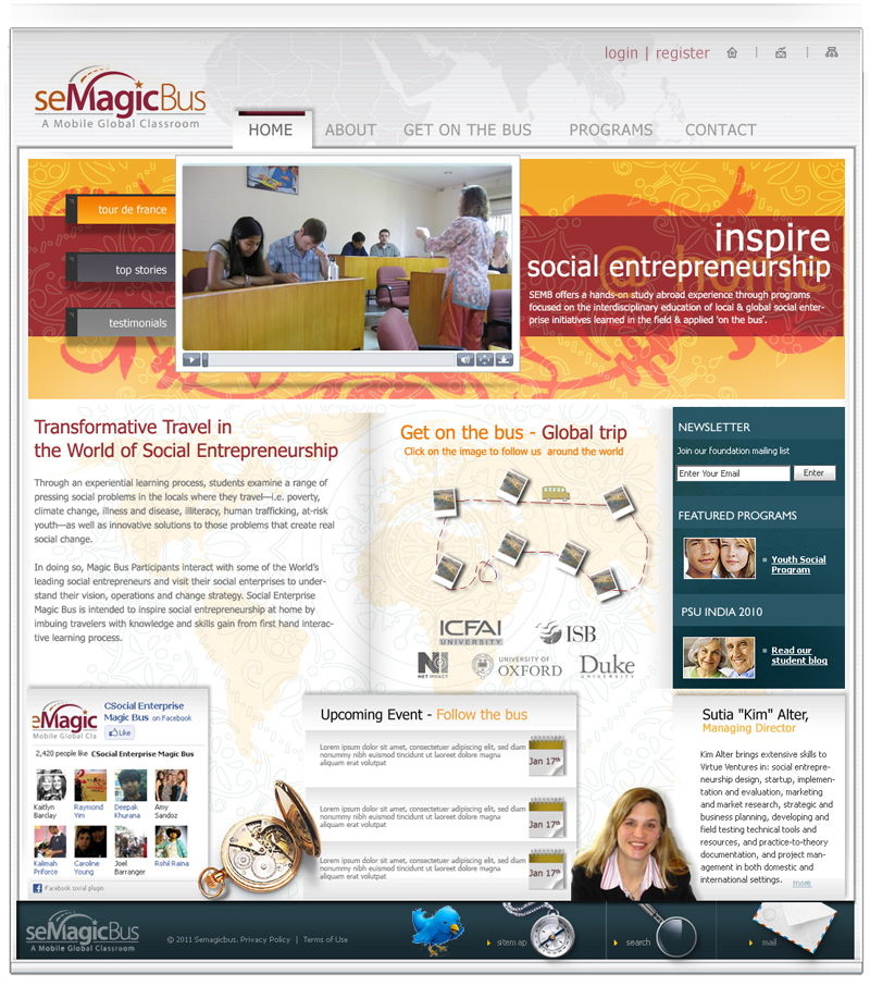 Web Page Design by haricane - Entry No. 34 in the Web Page Design Contest seMagicBus Website.