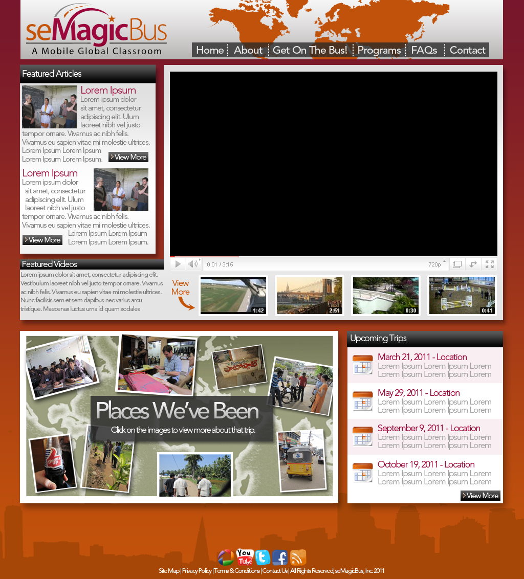 Web Page Design by bambino - Entry No. 38 in the Web Page Design Contest seMagicBus Website.