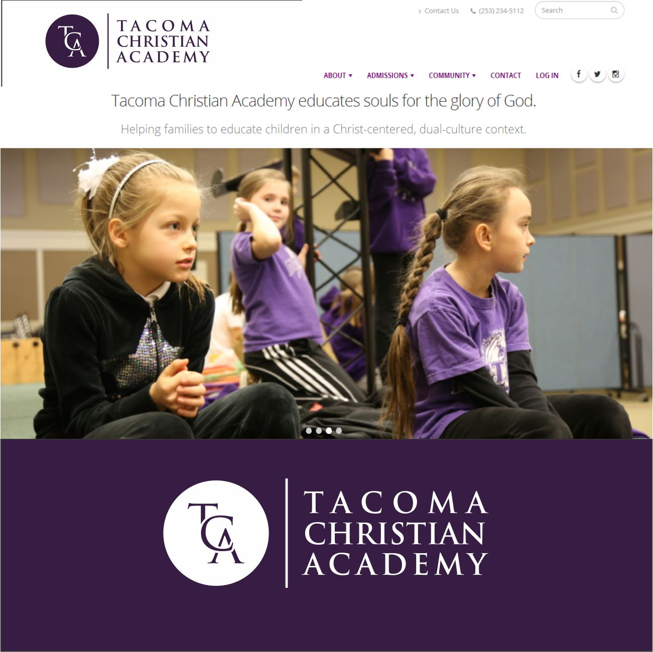 Logo Design by RasYa Muhammad Athaya - Entry No. 16 in the Logo Design Contest Imaginative Logo Design for Tacoma Christian Academy.
