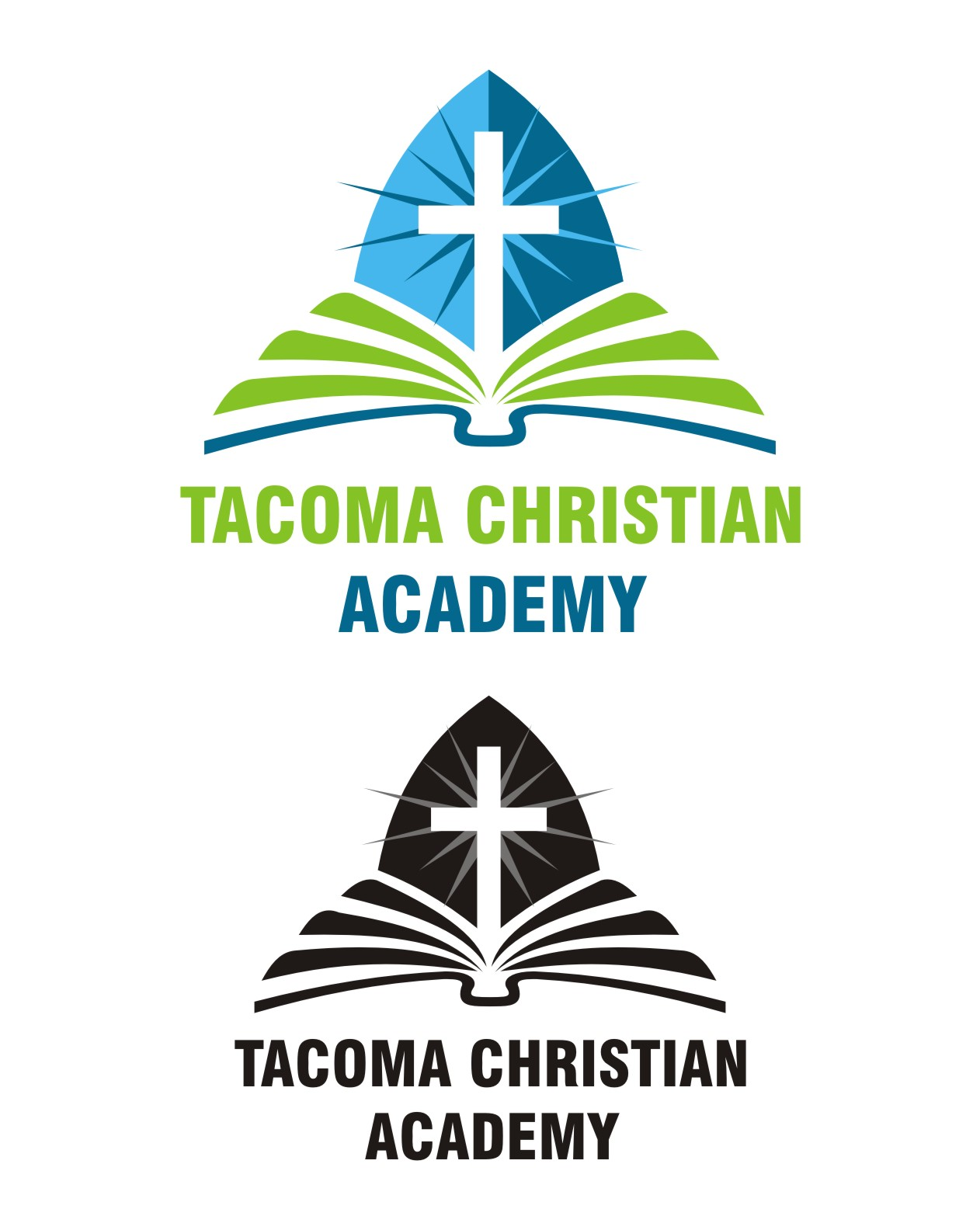 Logo Design by Spider Graphics - Entry No. 28 in the Logo Design Contest Imaginative Logo Design for Tacoma Christian Academy.