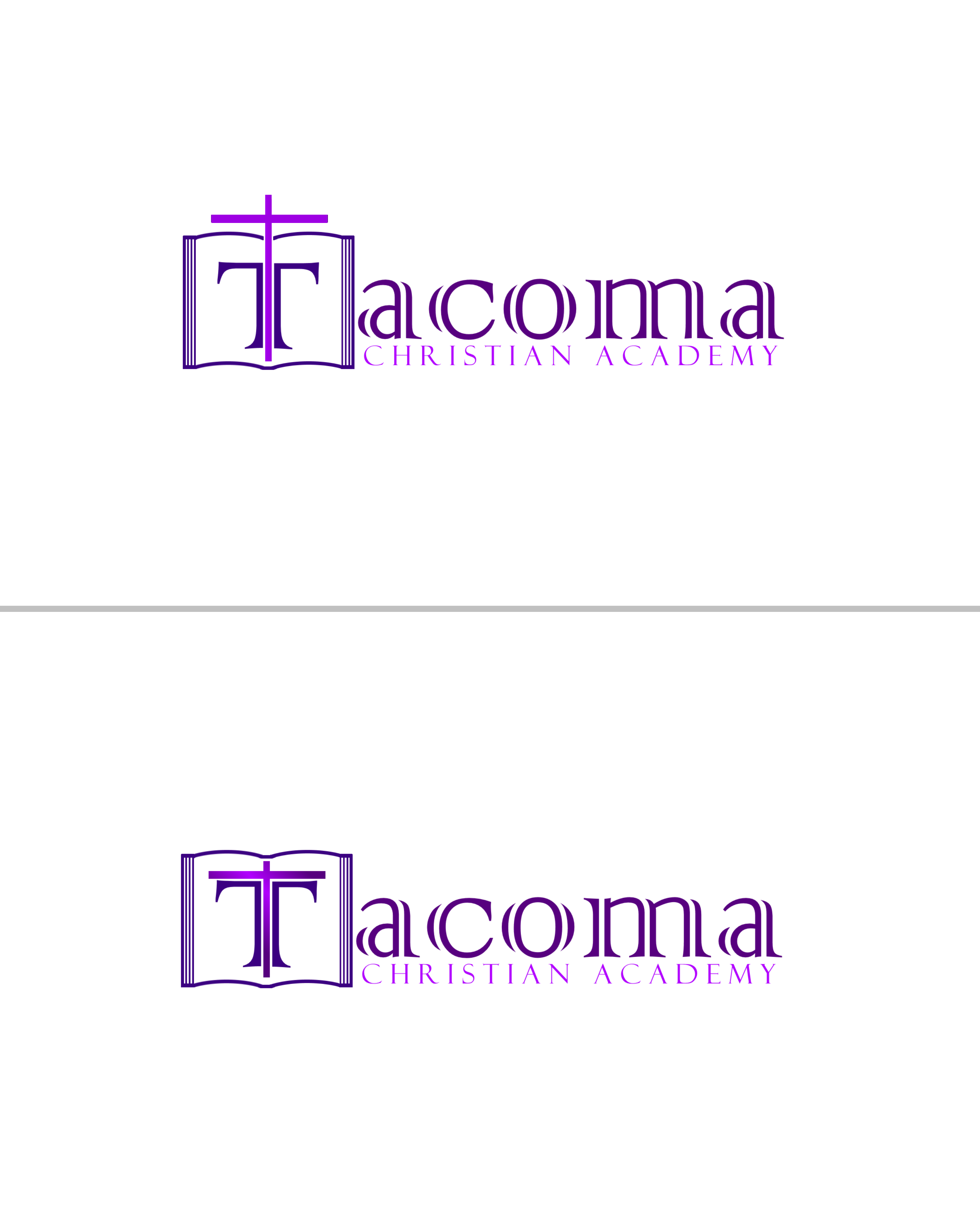 Logo Design by Roberto Bassi - Entry No. 29 in the Logo Design Contest Imaginative Logo Design for Tacoma Christian Academy.