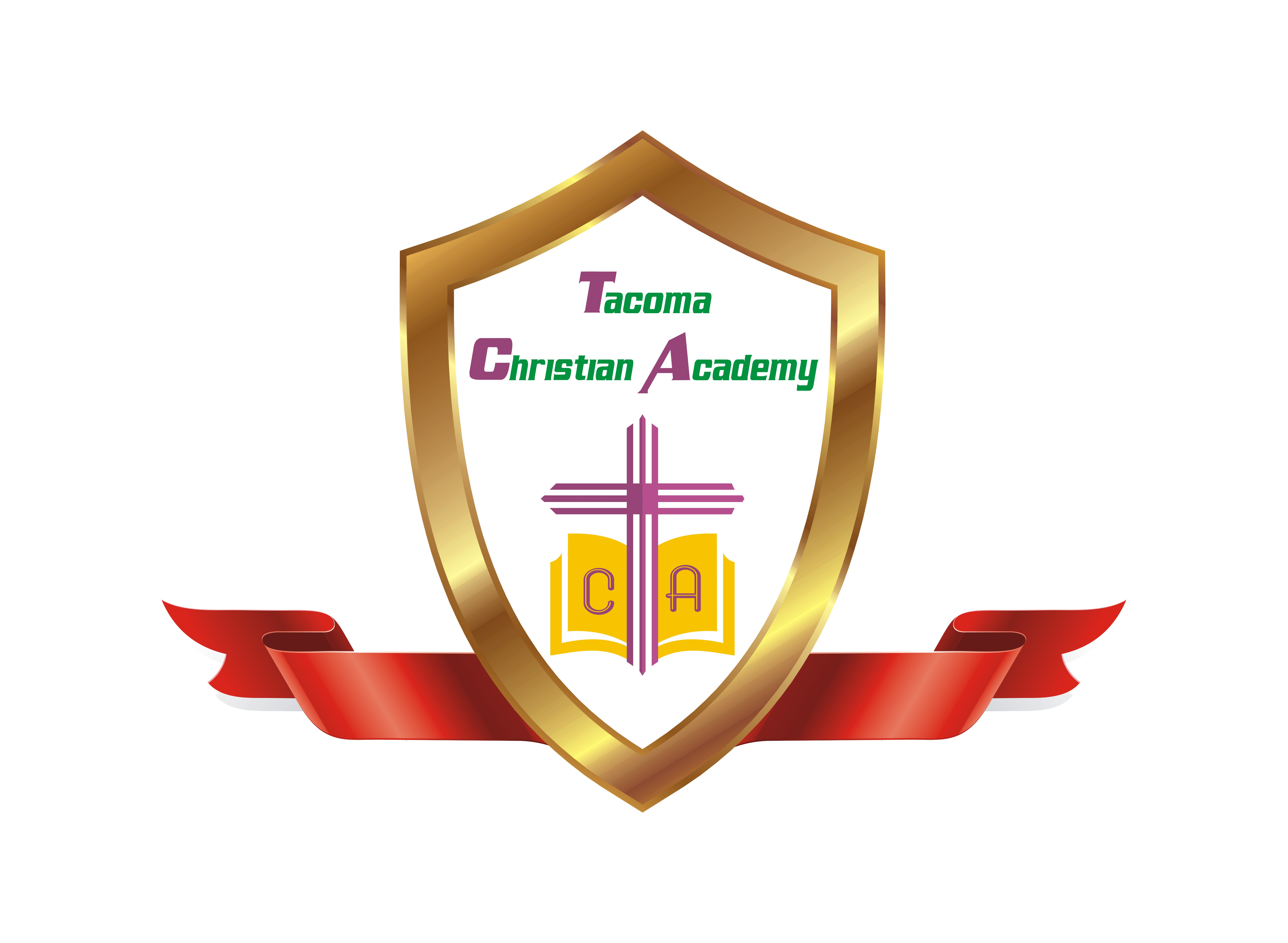 Logo Design by Mohamed Raffik - Entry No. 32 in the Logo Design Contest Imaginative Logo Design for Tacoma Christian Academy.