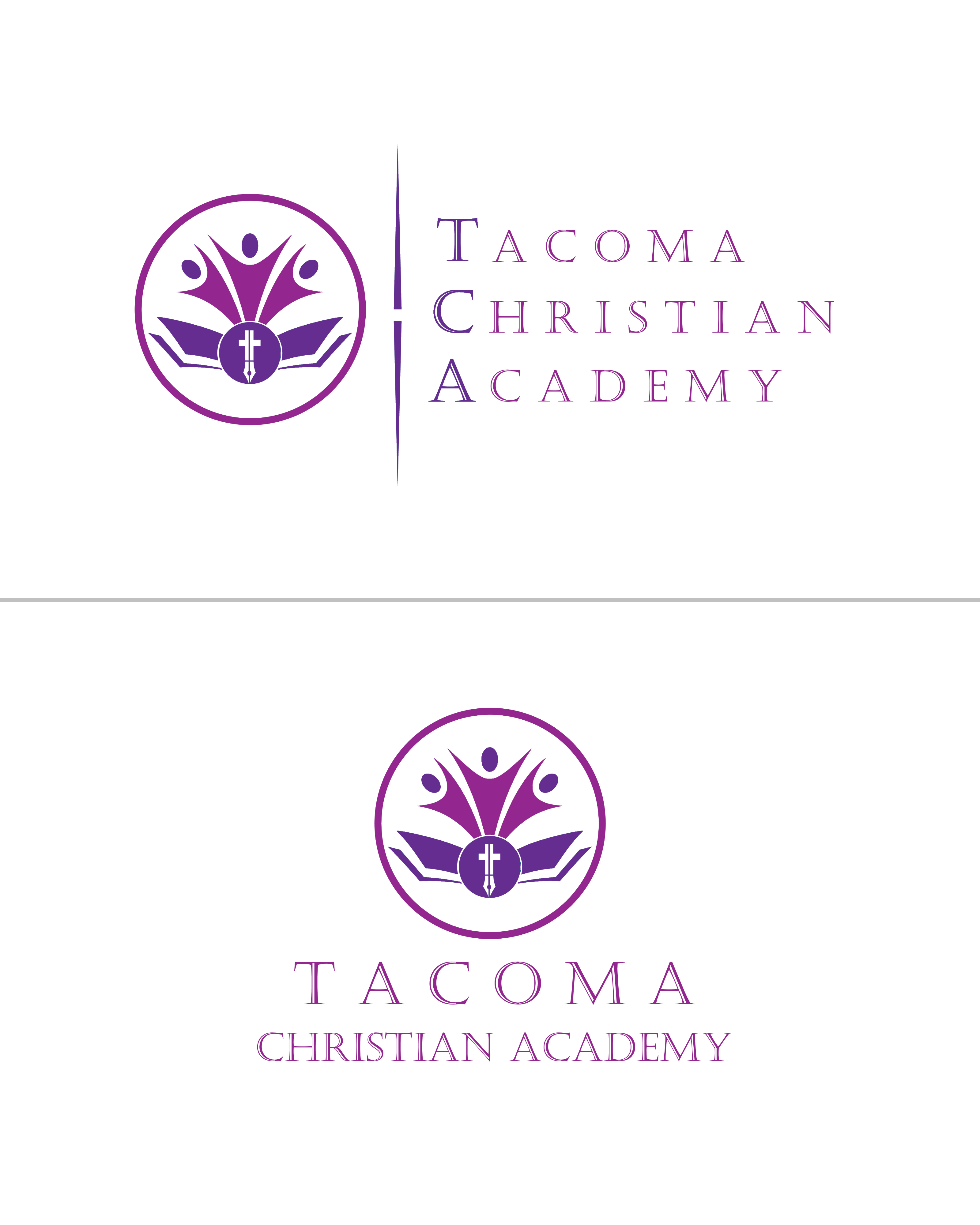 Logo Design by Roberto Bassi - Entry No. 55 in the Logo Design Contest Imaginative Logo Design for Tacoma Christian Academy.