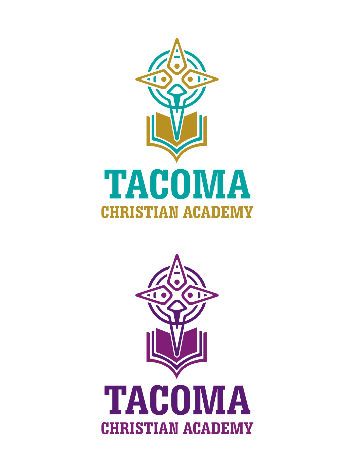 Logo Design by Spider Graphics - Entry No. 58 in the Logo Design Contest Imaginative Logo Design for Tacoma Christian Academy.