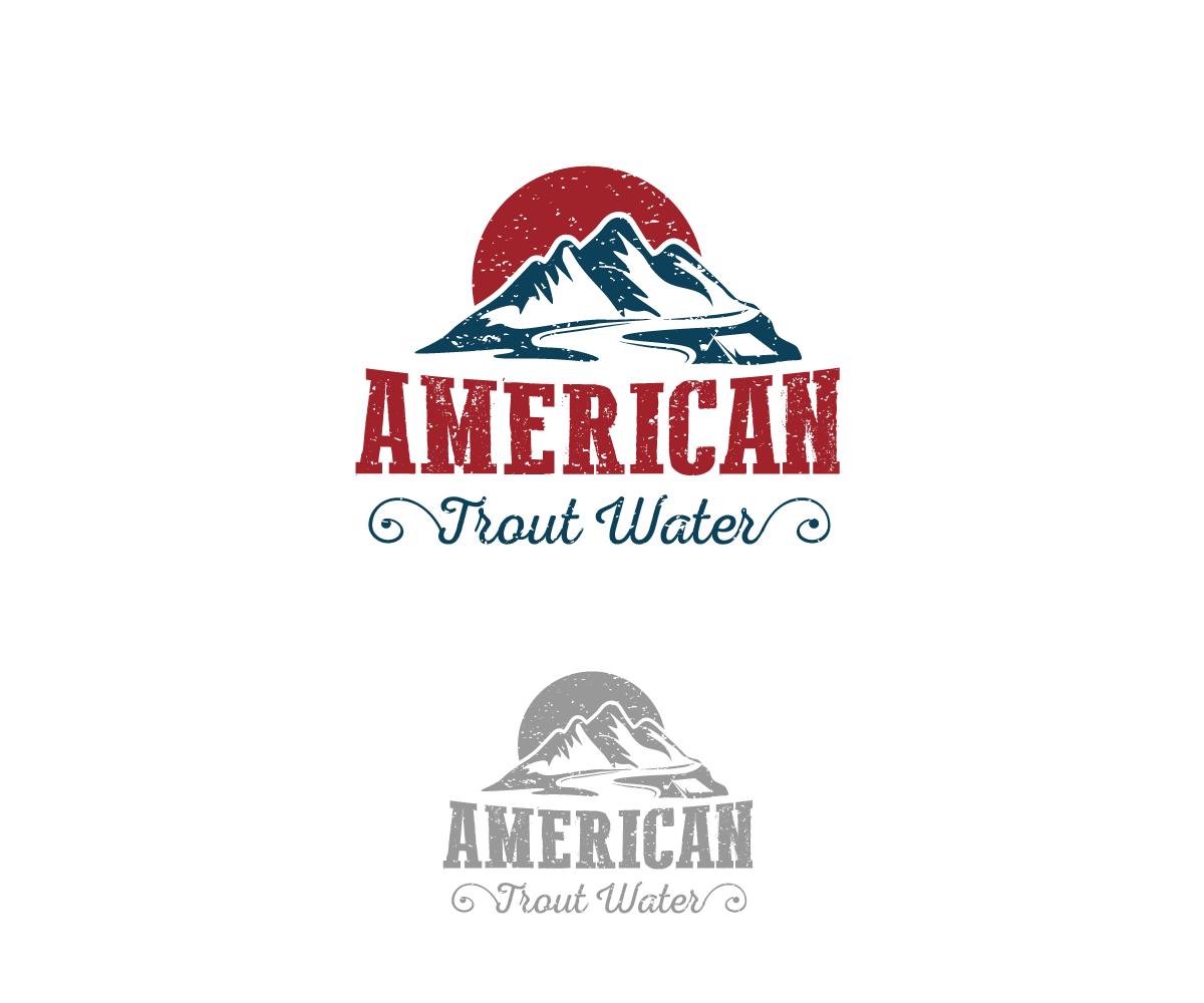 Logo Design by Juan Luna - Entry No. 4 in the Logo Design Contest American Trout Water Logo Design.