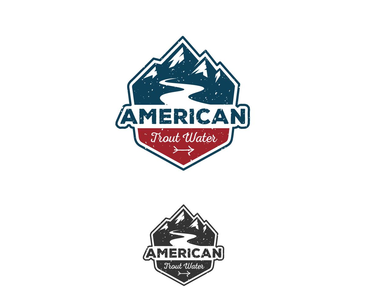 Logo Design by Juan Luna - Entry No. 5 in the Logo Design Contest American Trout Water Logo Design.