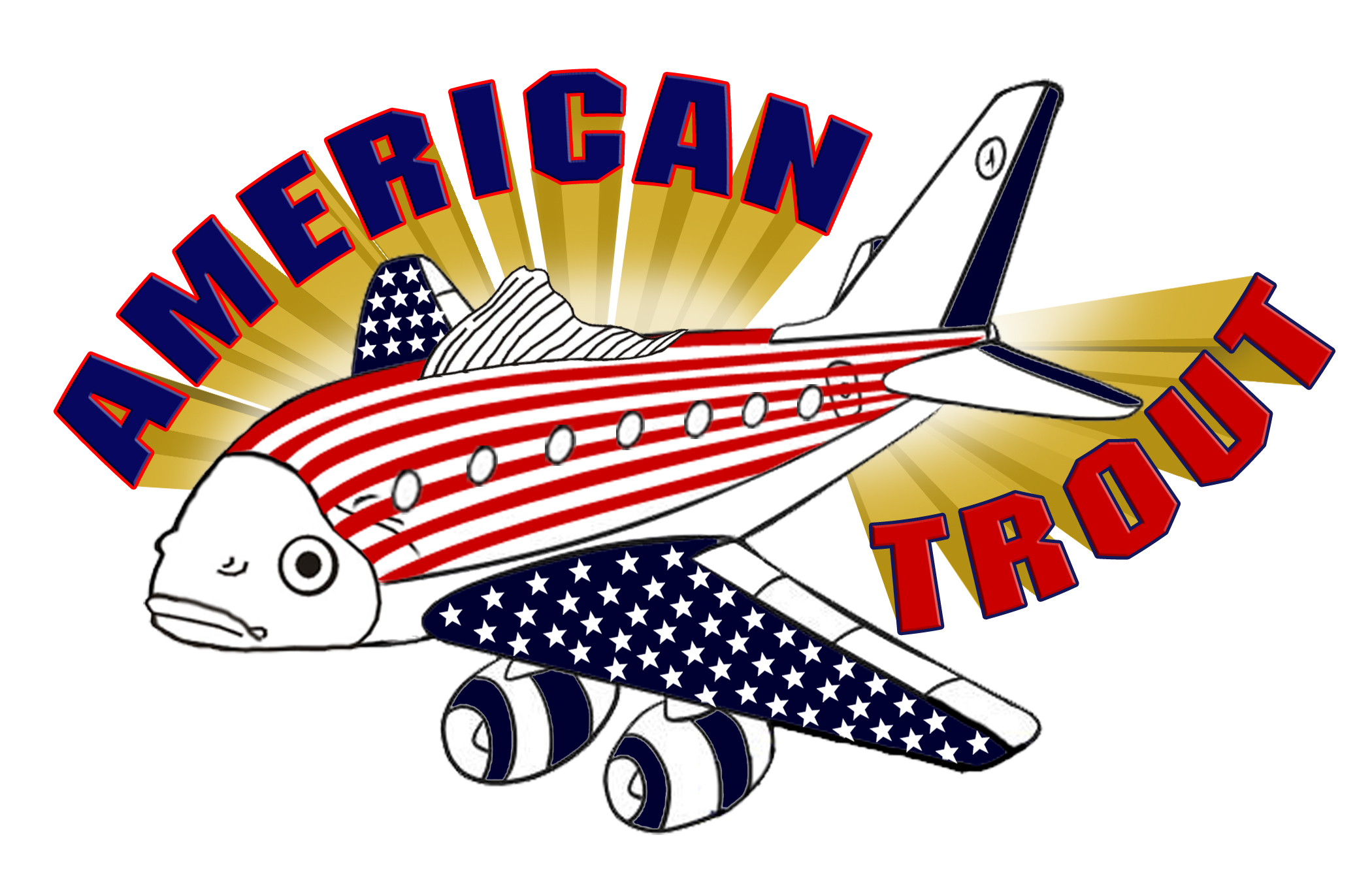 Logo Design by Kitz Malinao - Entry No. 6 in the Logo Design Contest American Trout Water Logo Design.