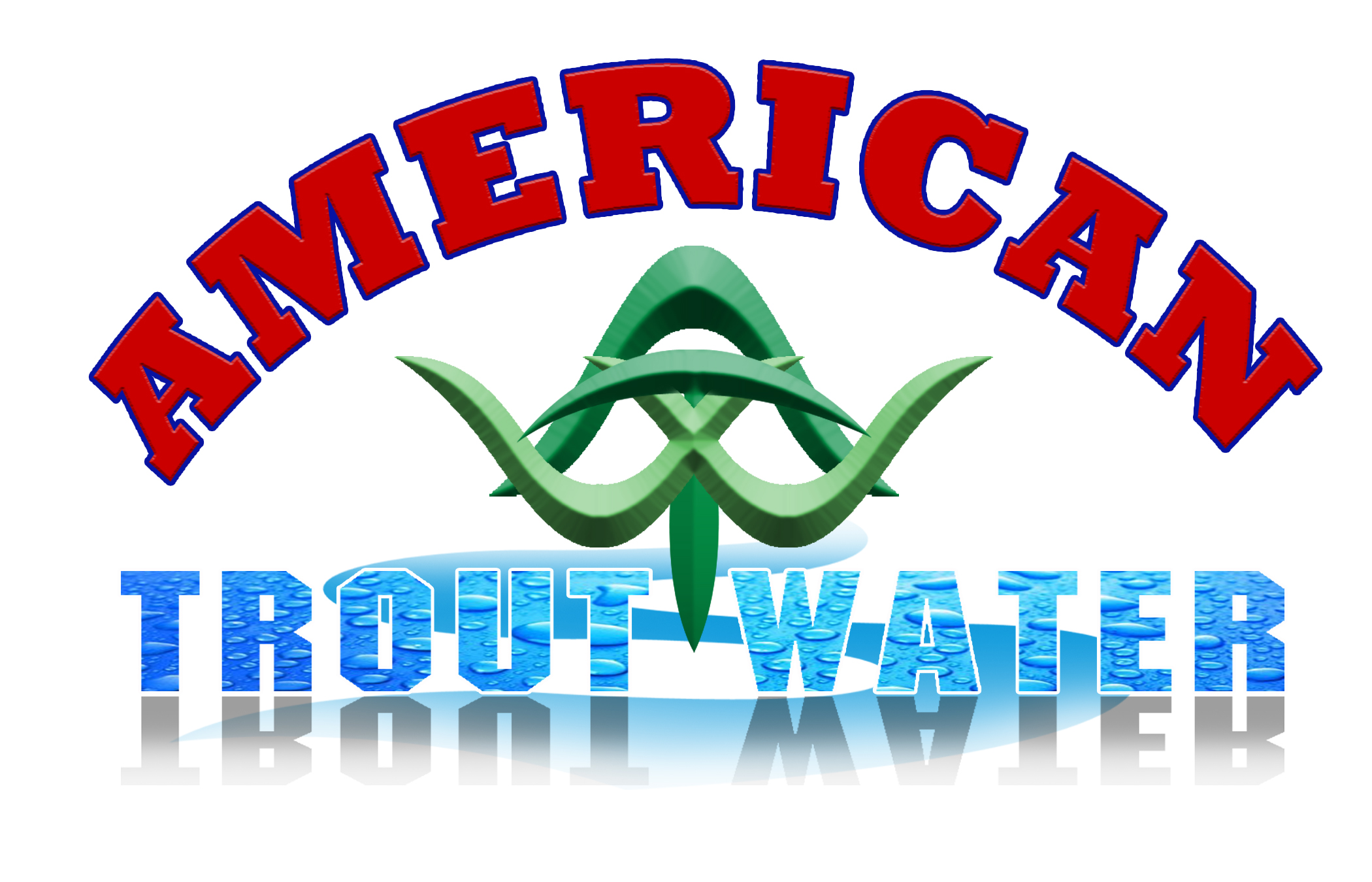 Logo Design by Kitz Malinao - Entry No. 8 in the Logo Design Contest American Trout Water Logo Design.