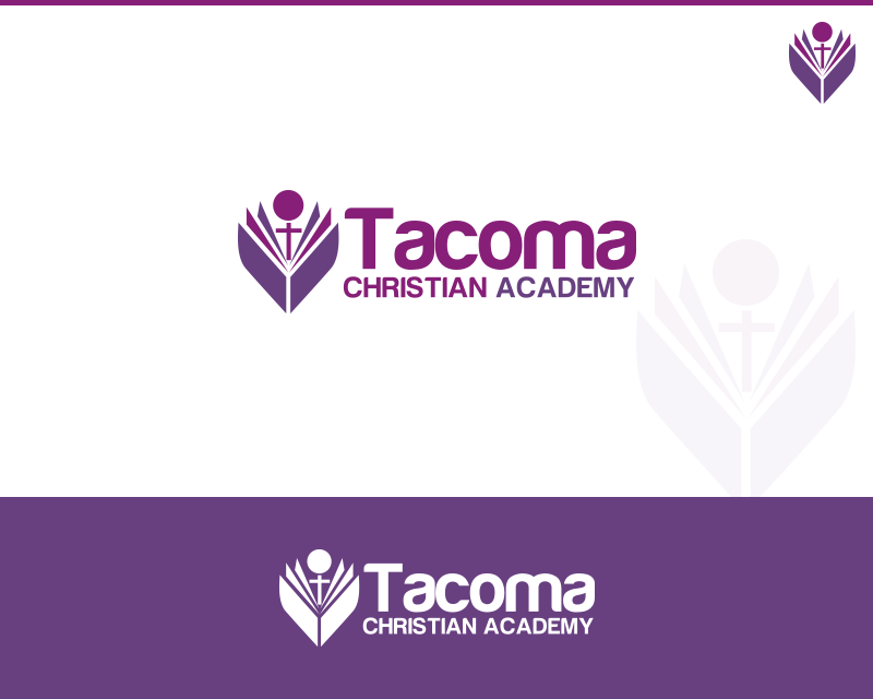 Logo Design by Private User - Entry No. 73 in the Logo Design Contest Imaginative Logo Design for Tacoma Christian Academy.