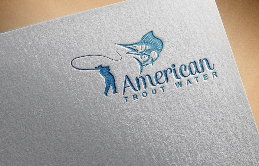 Logo Design by Private User - Entry No. 10 in the Logo Design Contest American Trout Water Logo Design.
