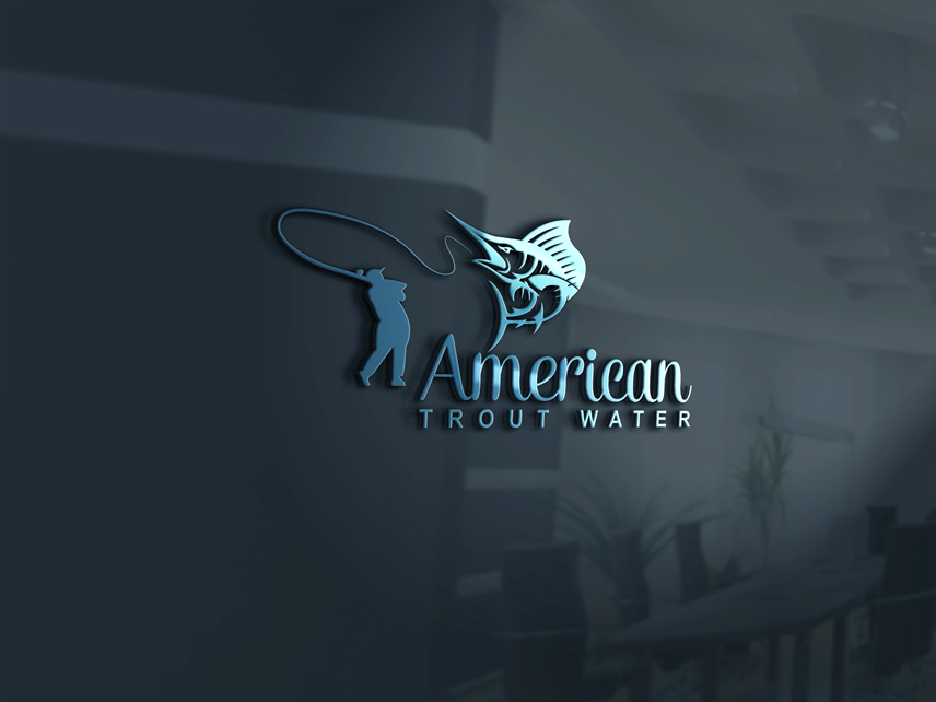 Logo Design by Private User - Entry No. 11 in the Logo Design Contest American Trout Water Logo Design.