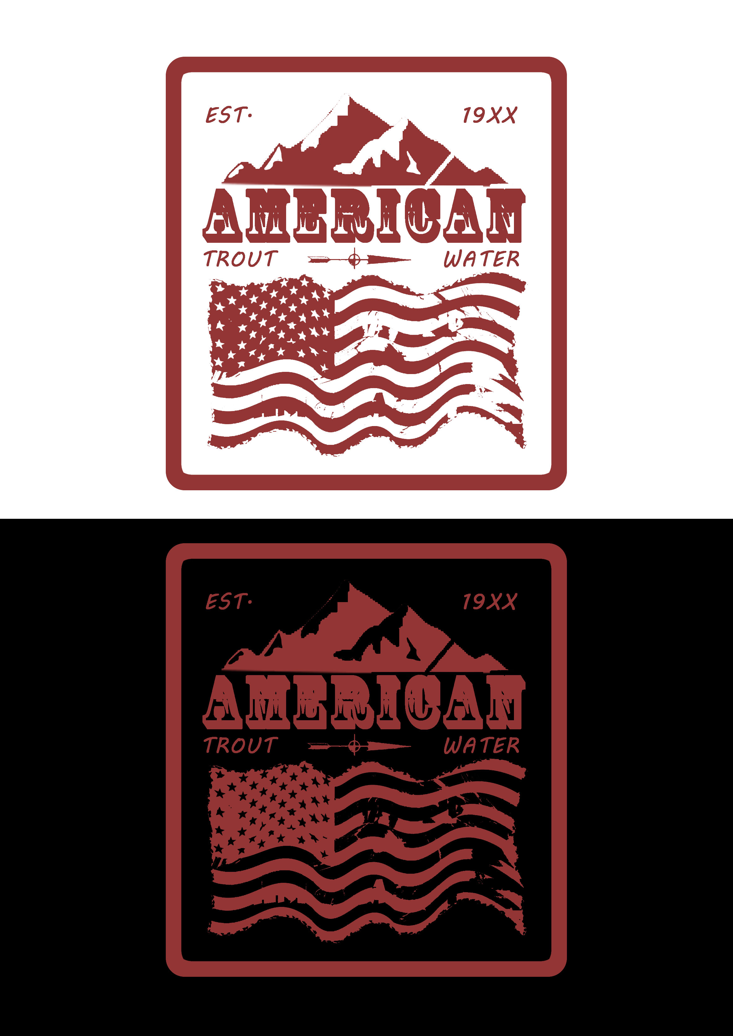 Logo Design by JSDESIGNGROUP - Entry No. 12 in the Logo Design Contest American Trout Water Logo Design.
