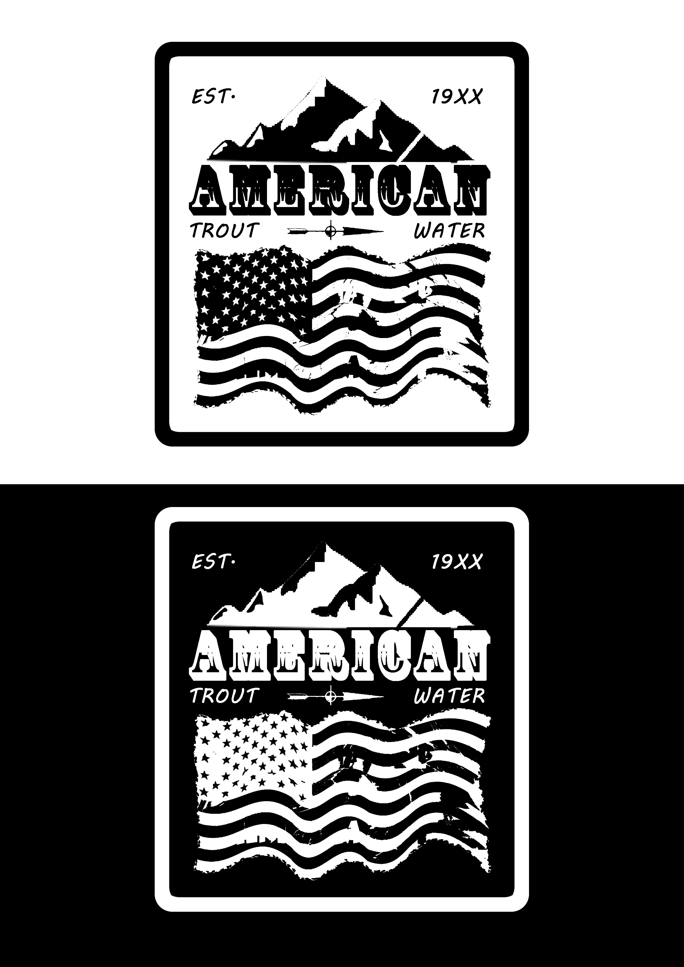 Logo Design by JSDESIGNGROUP - Entry No. 13 in the Logo Design Contest American Trout Water Logo Design.