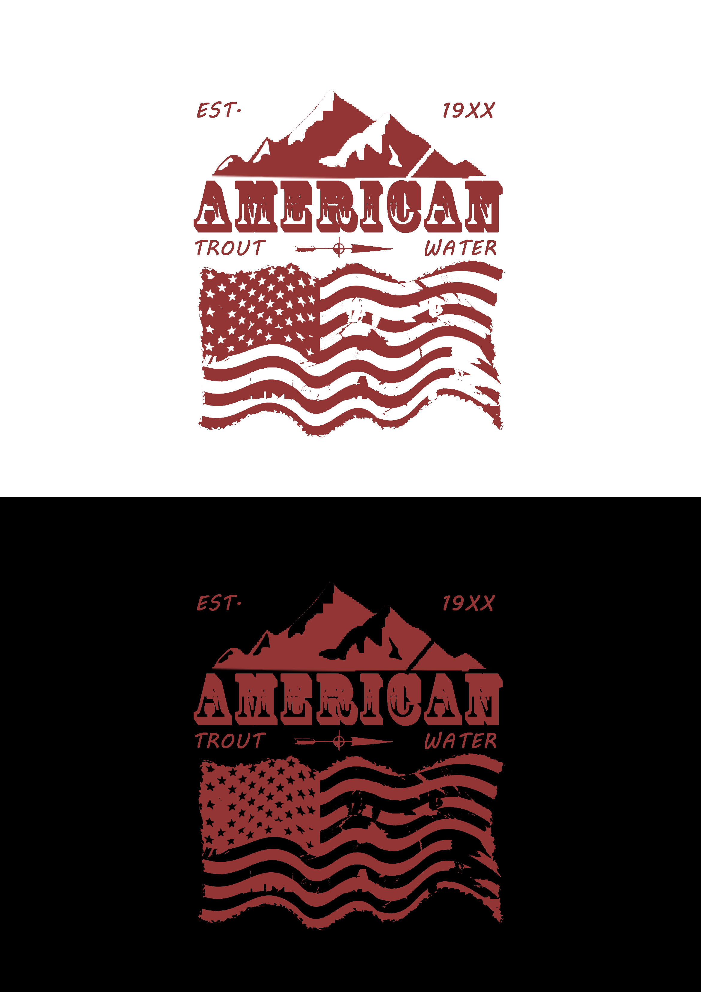 Logo Design by JSDESIGNGROUP - Entry No. 14 in the Logo Design Contest American Trout Water Logo Design.