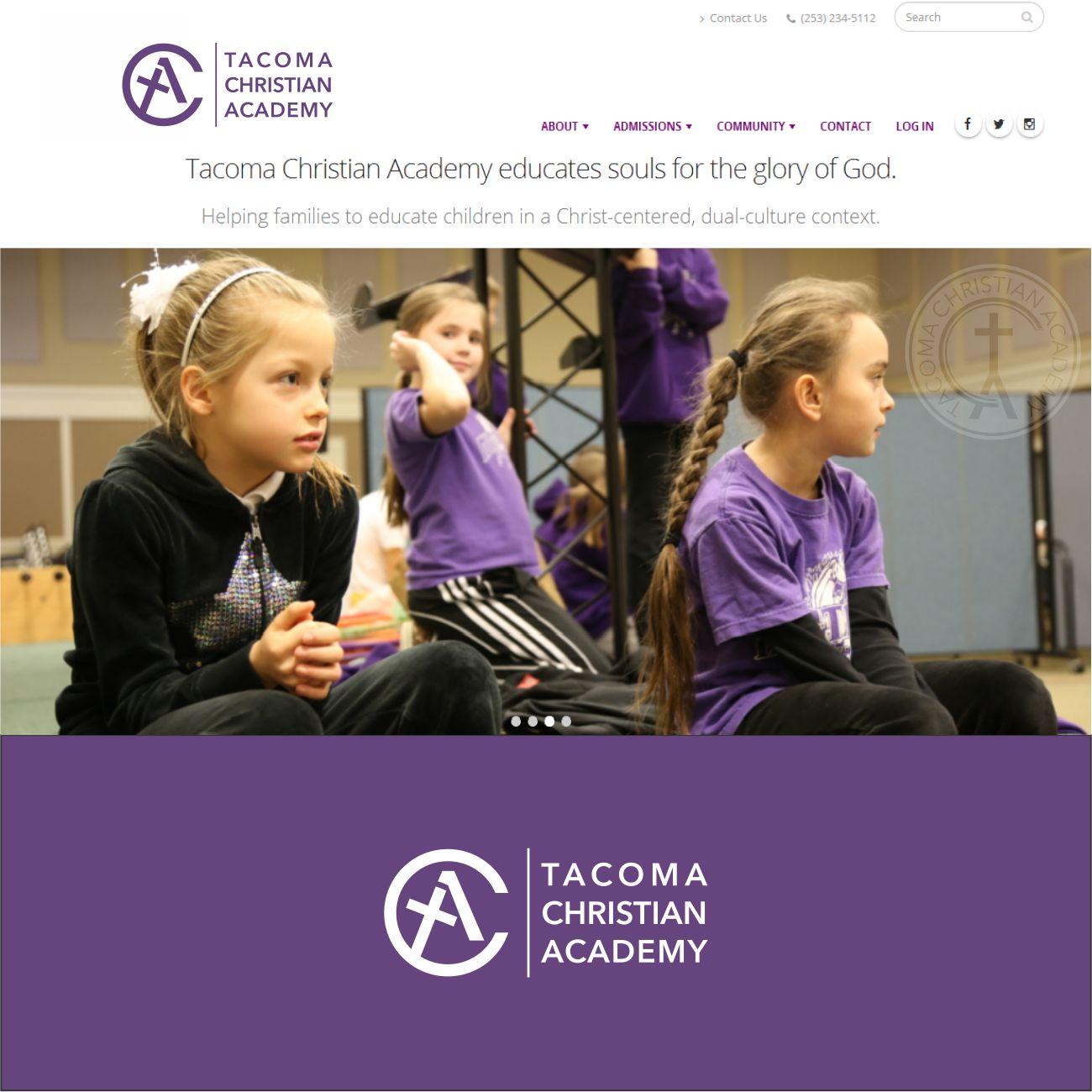 Logo Design by RasYa Muhammad Athaya - Entry No. 86 in the Logo Design Contest Imaginative Logo Design for Tacoma Christian Academy.