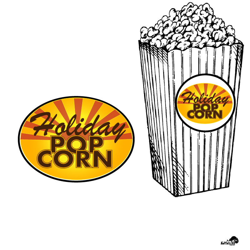 Logo Design by KATAline - Entry No. 45 in the Logo Design Contest Holiday Popcorn.