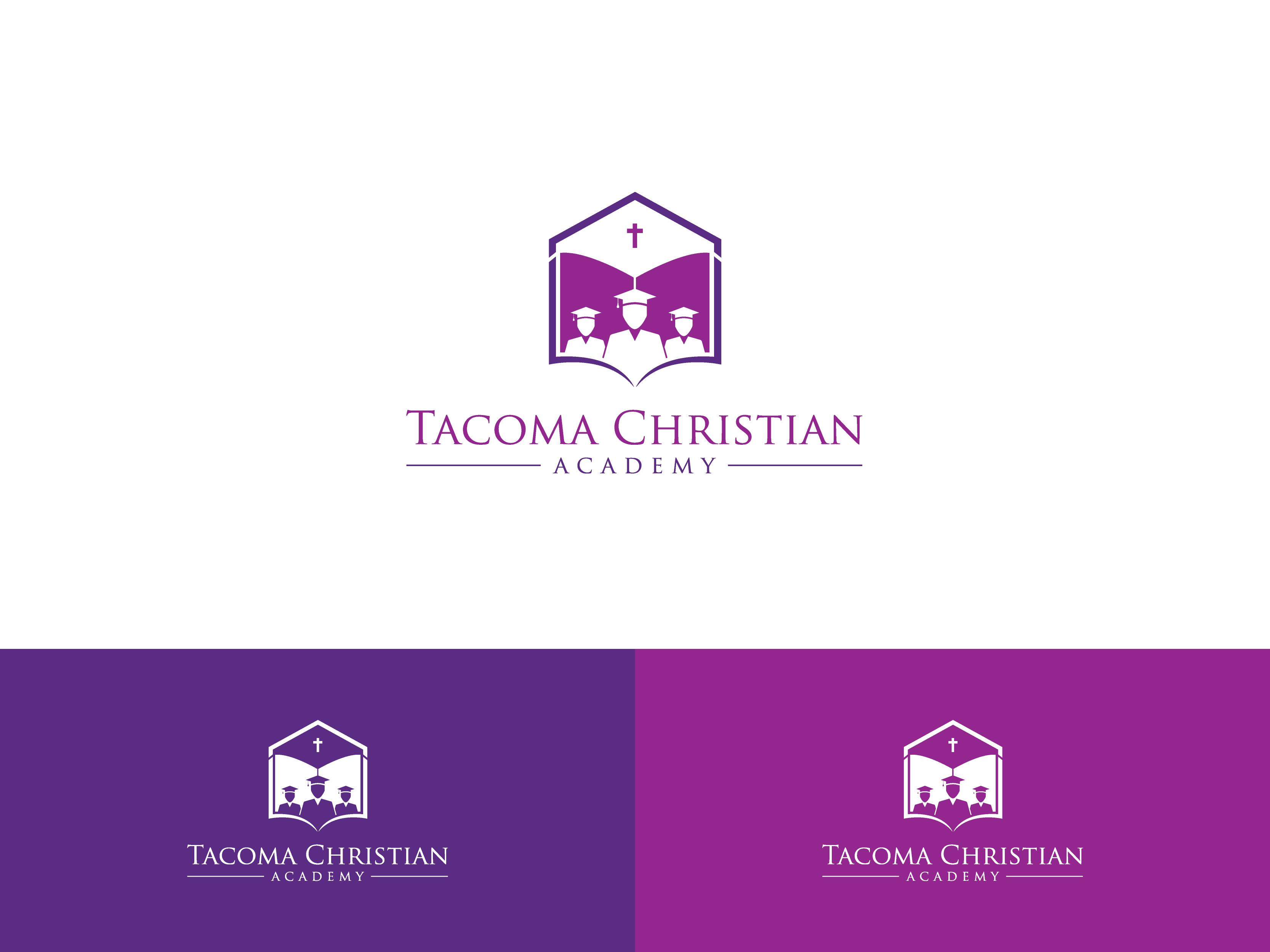 Logo Design by Shivaprasad Sangondimath - Entry No. 94 in the Logo Design Contest Imaginative Logo Design for Tacoma Christian Academy.