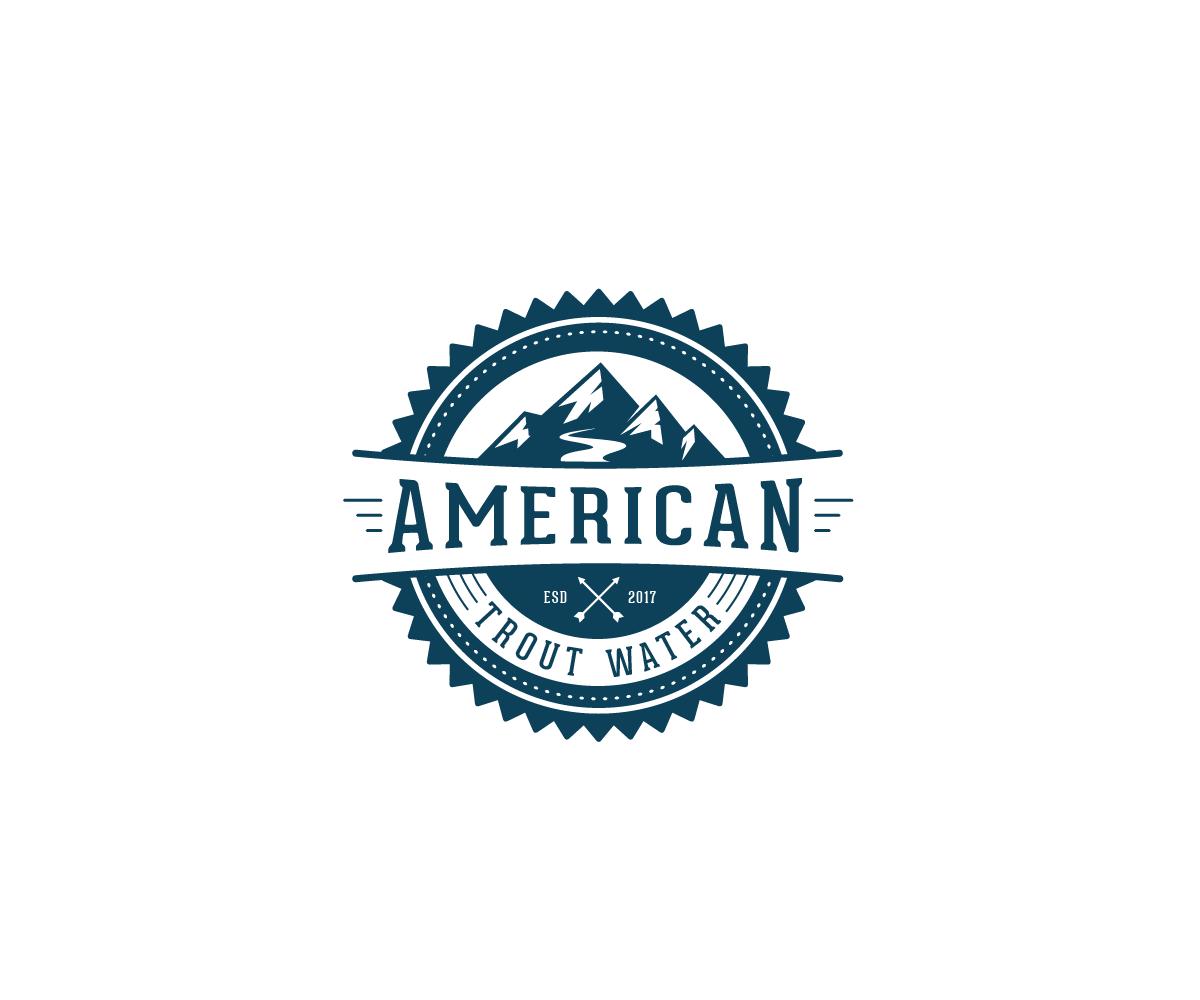 Logo Design by Juan Luna - Entry No. 19 in the Logo Design Contest American Trout Water Logo Design.