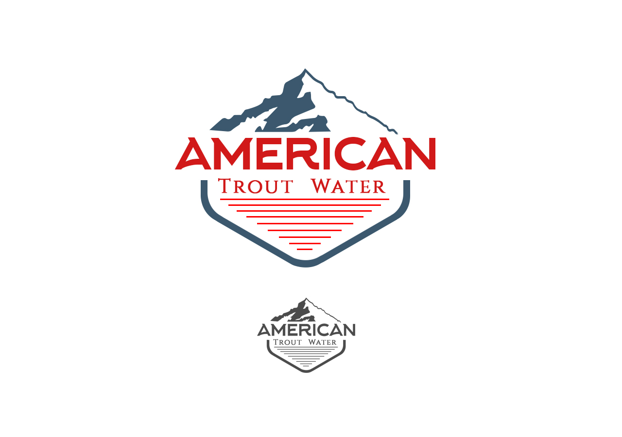 Logo Design by MonsterGraphics - Entry No. 20 in the Logo Design Contest American Trout Water Logo Design.