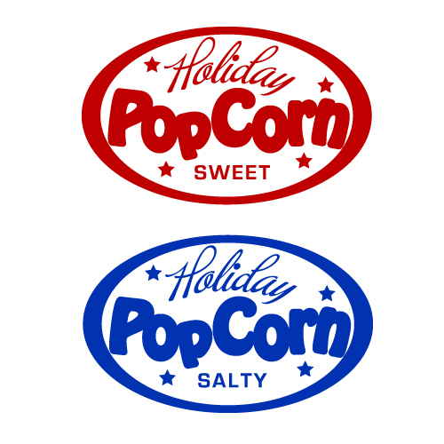 Logo Design by SilverEagle - Entry No. 47 in the Logo Design Contest Holiday Popcorn.