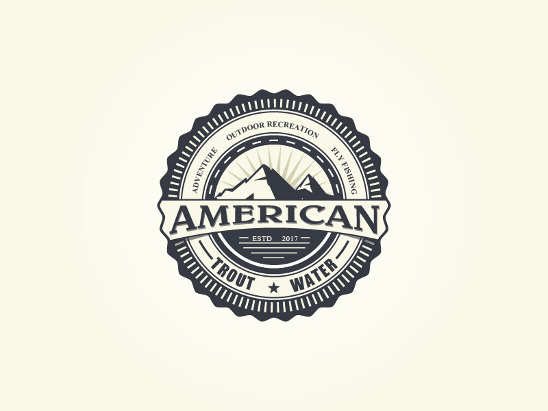Logo Design by Private User - Entry No. 28 in the Logo Design Contest American Trout Water Logo Design.
