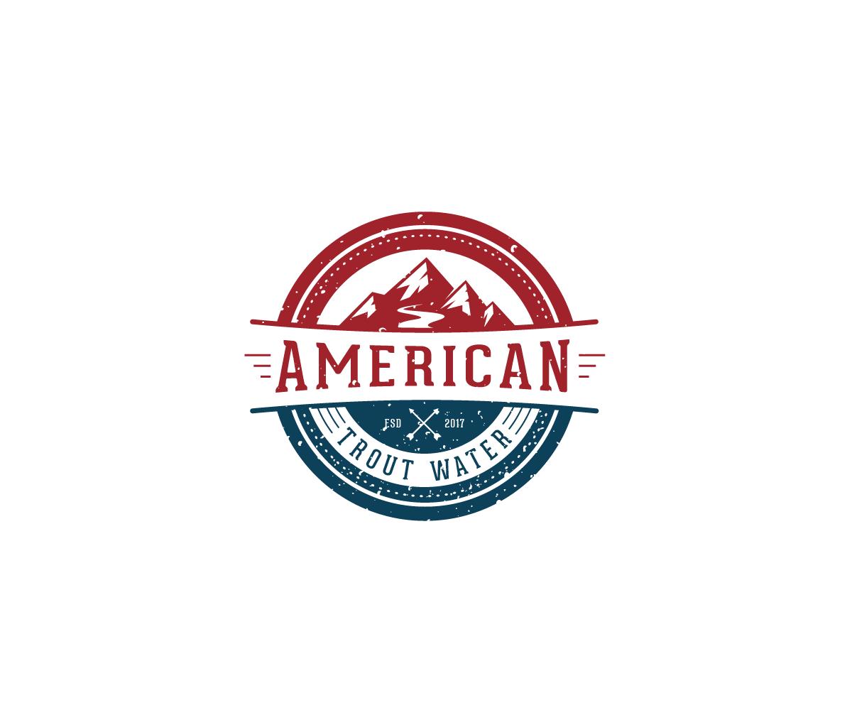 Logo Design by Juan Luna - Entry No. 31 in the Logo Design Contest American Trout Water Logo Design.