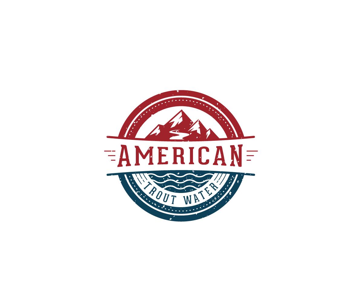 Logo Design by Juan Luna - Entry No. 32 in the Logo Design Contest American Trout Water Logo Design.