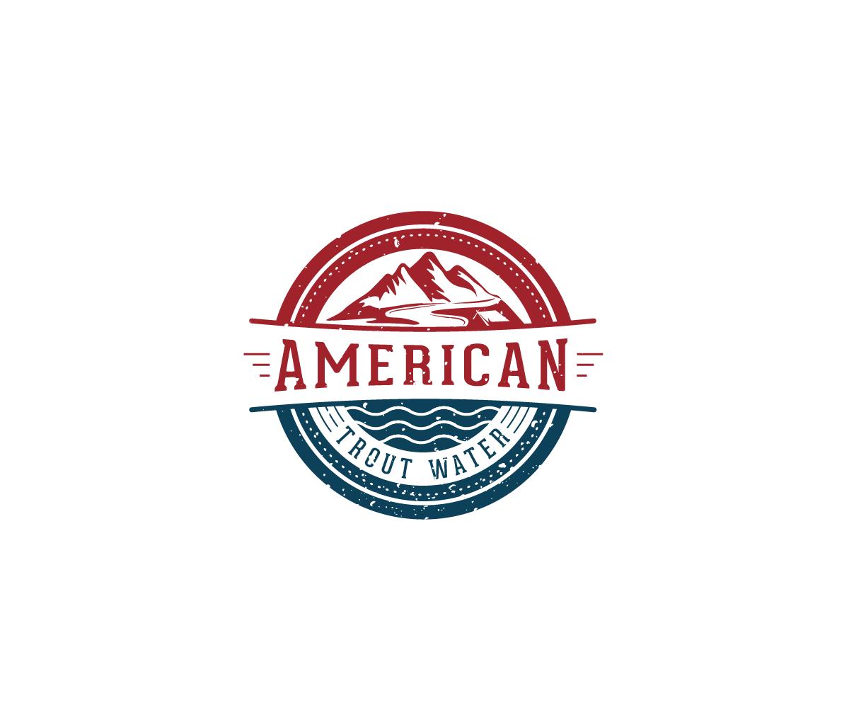 Logo Design by Juan Luna - Entry No. 33 in the Logo Design Contest American Trout Water Logo Design.