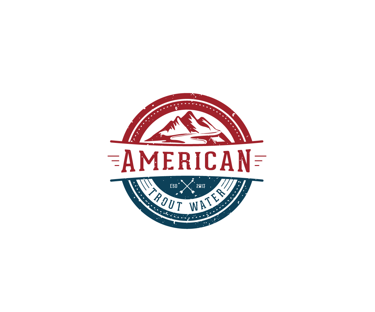 Logo Design by Juan Luna - Entry No. 34 in the Logo Design Contest American Trout Water Logo Design.