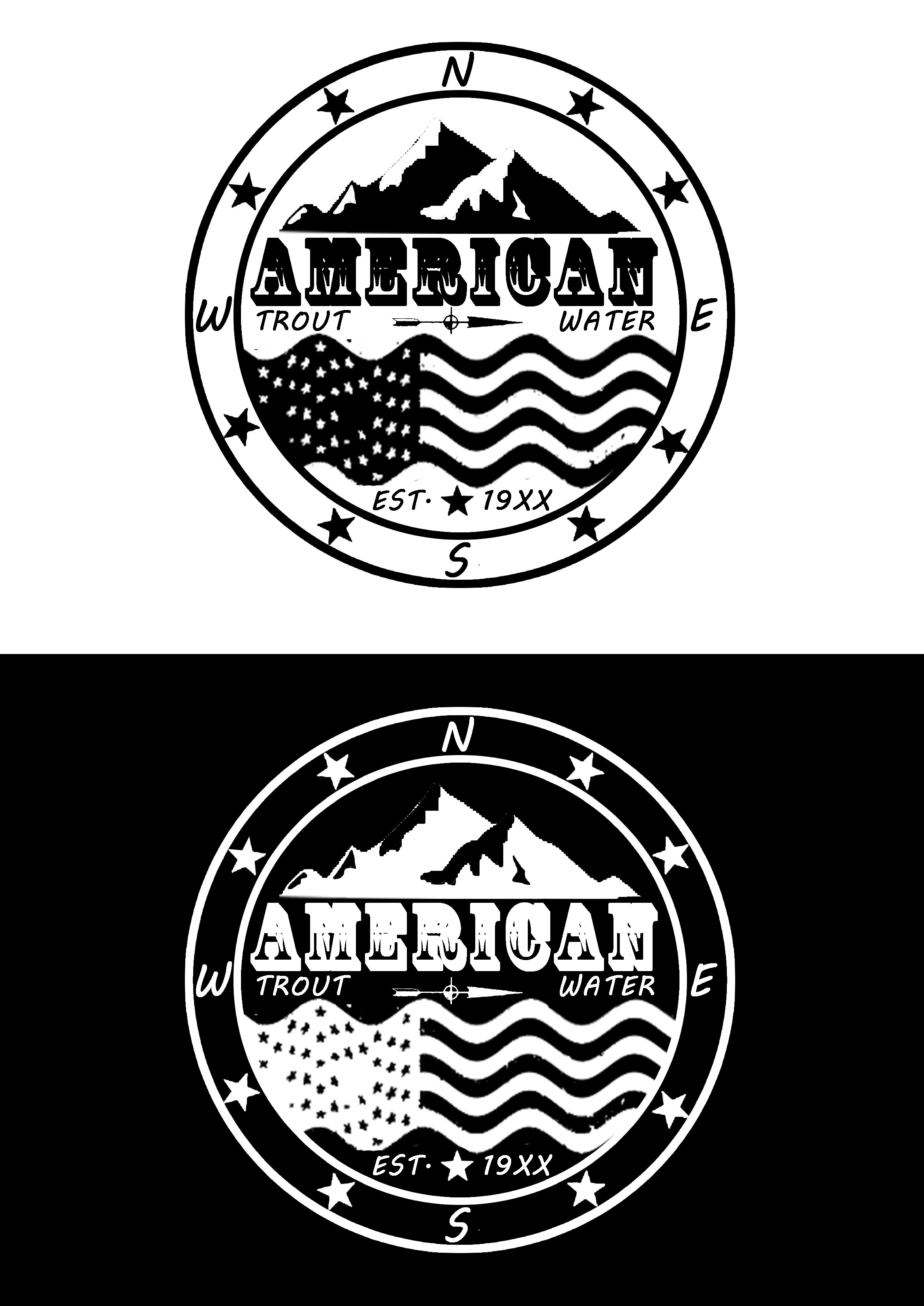 Logo Design by JSDESIGNGROUP - Entry No. 36 in the Logo Design Contest American Trout Water Logo Design.