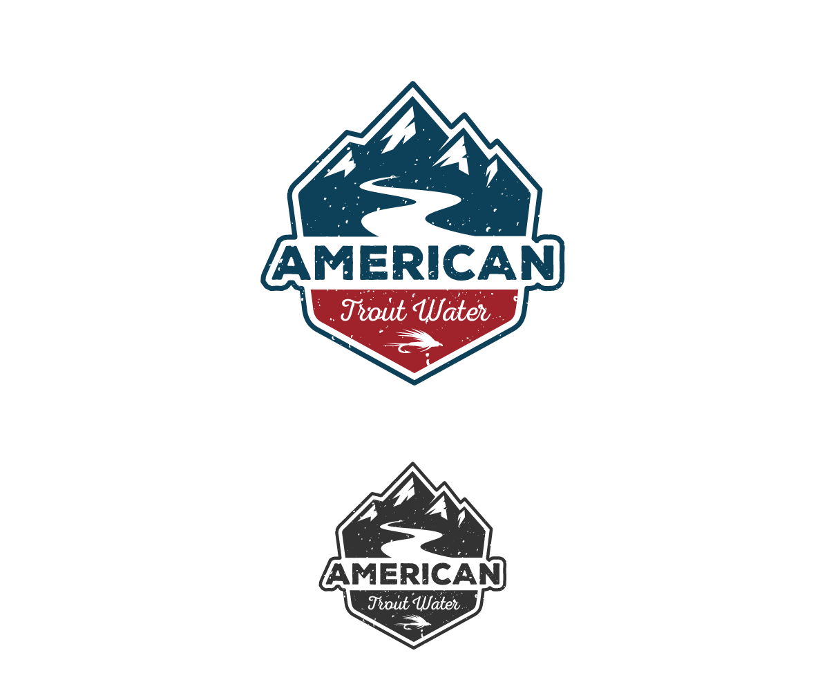 Logo Design by Juan Luna - Entry No. 37 in the Logo Design Contest American Trout Water Logo Design.