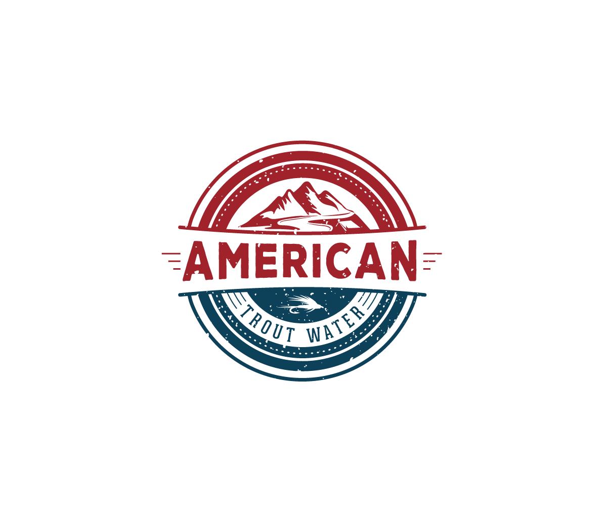Logo Design by Juan Luna - Entry No. 38 in the Logo Design Contest American Trout Water Logo Design.