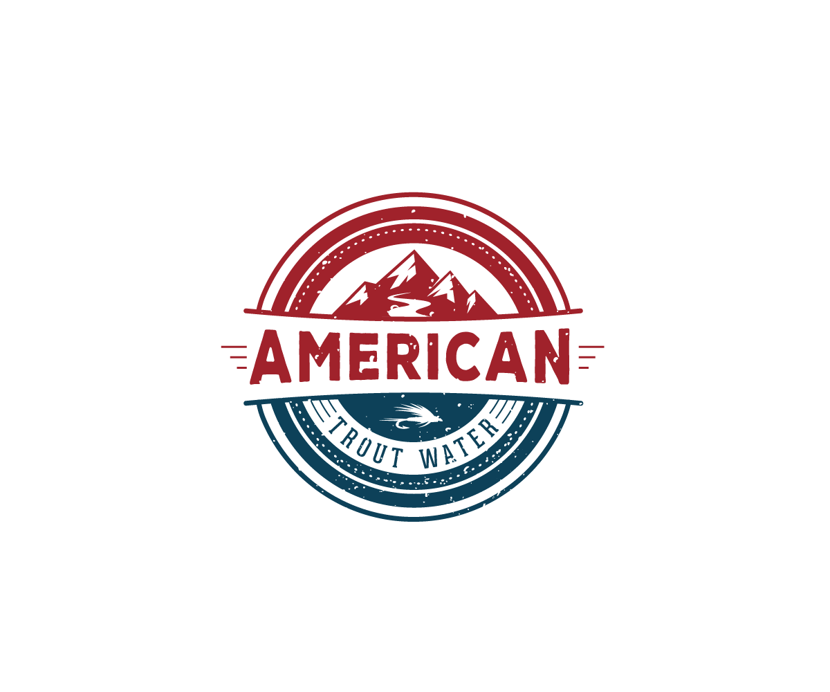 Logo Design by Juan Luna - Entry No. 39 in the Logo Design Contest American Trout Water Logo Design.