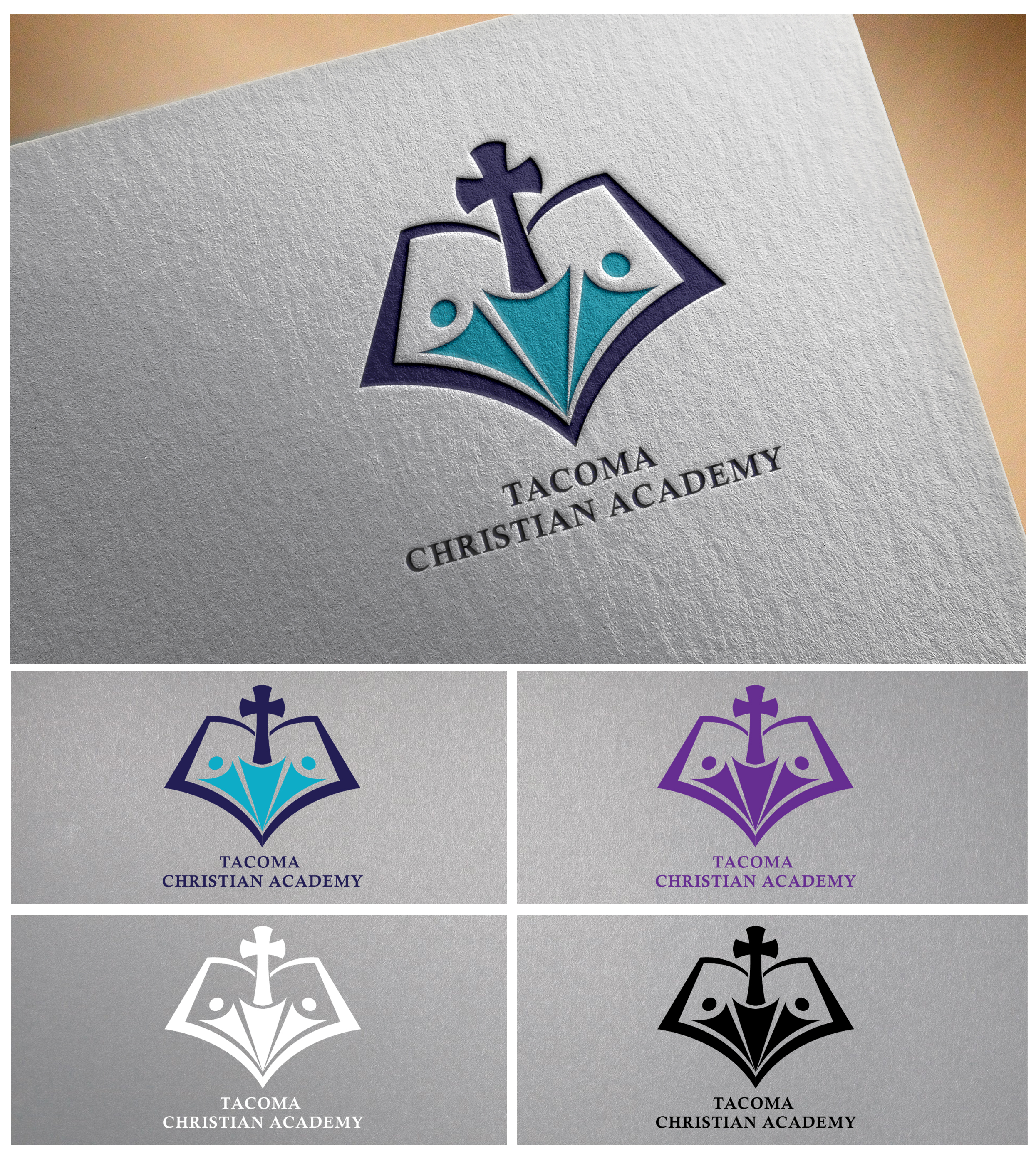 Logo Design by Joy Bhowmik - Entry No. 112 in the Logo Design Contest Imaginative Logo Design for Tacoma Christian Academy.