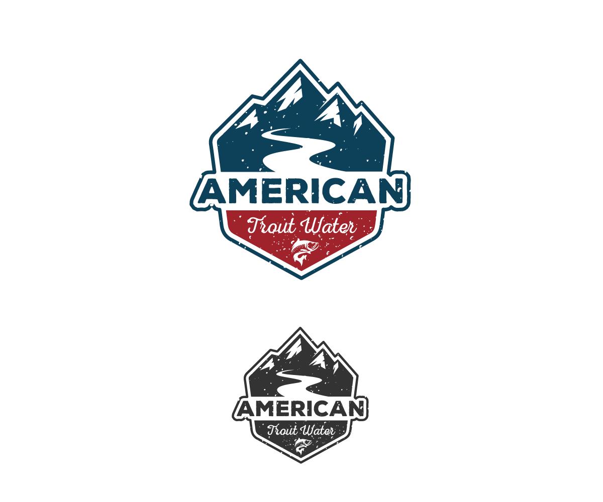 Logo Design by Juan Luna - Entry No. 42 in the Logo Design Contest American Trout Water Logo Design.