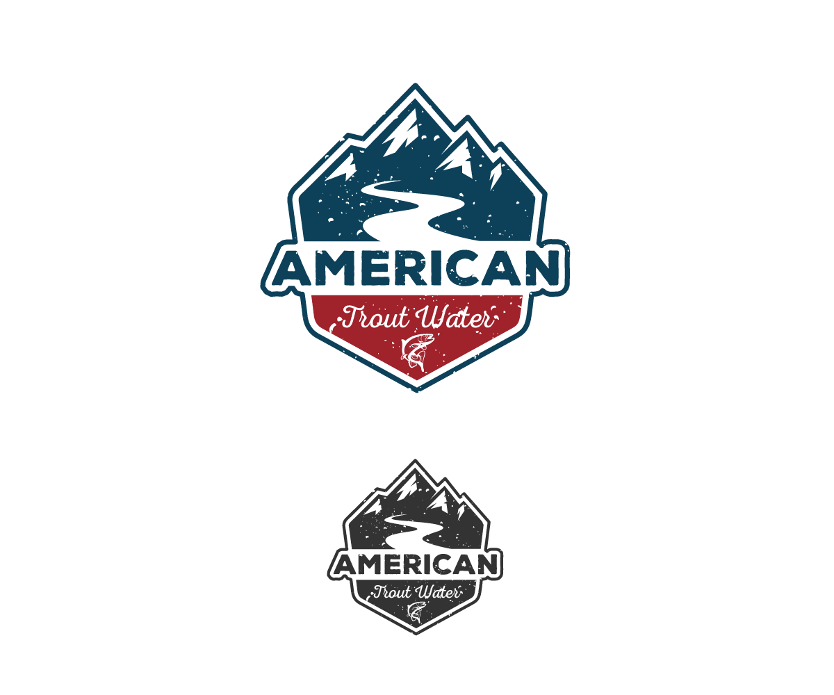 Logo Design by Juan Luna - Entry No. 43 in the Logo Design Contest American Trout Water Logo Design.