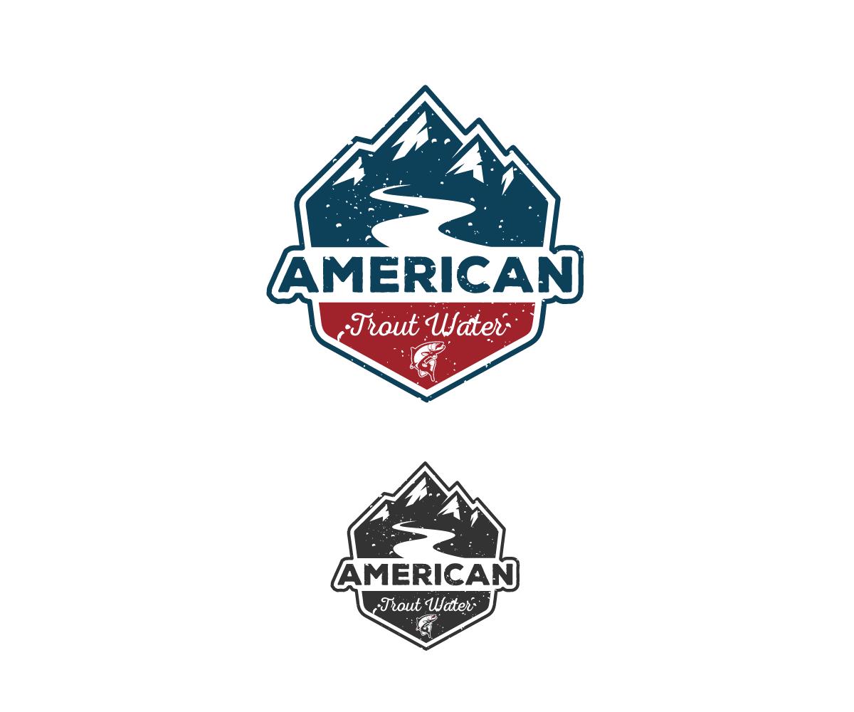 Logo Design by Juan Luna - Entry No. 44 in the Logo Design Contest American Trout Water Logo Design.
