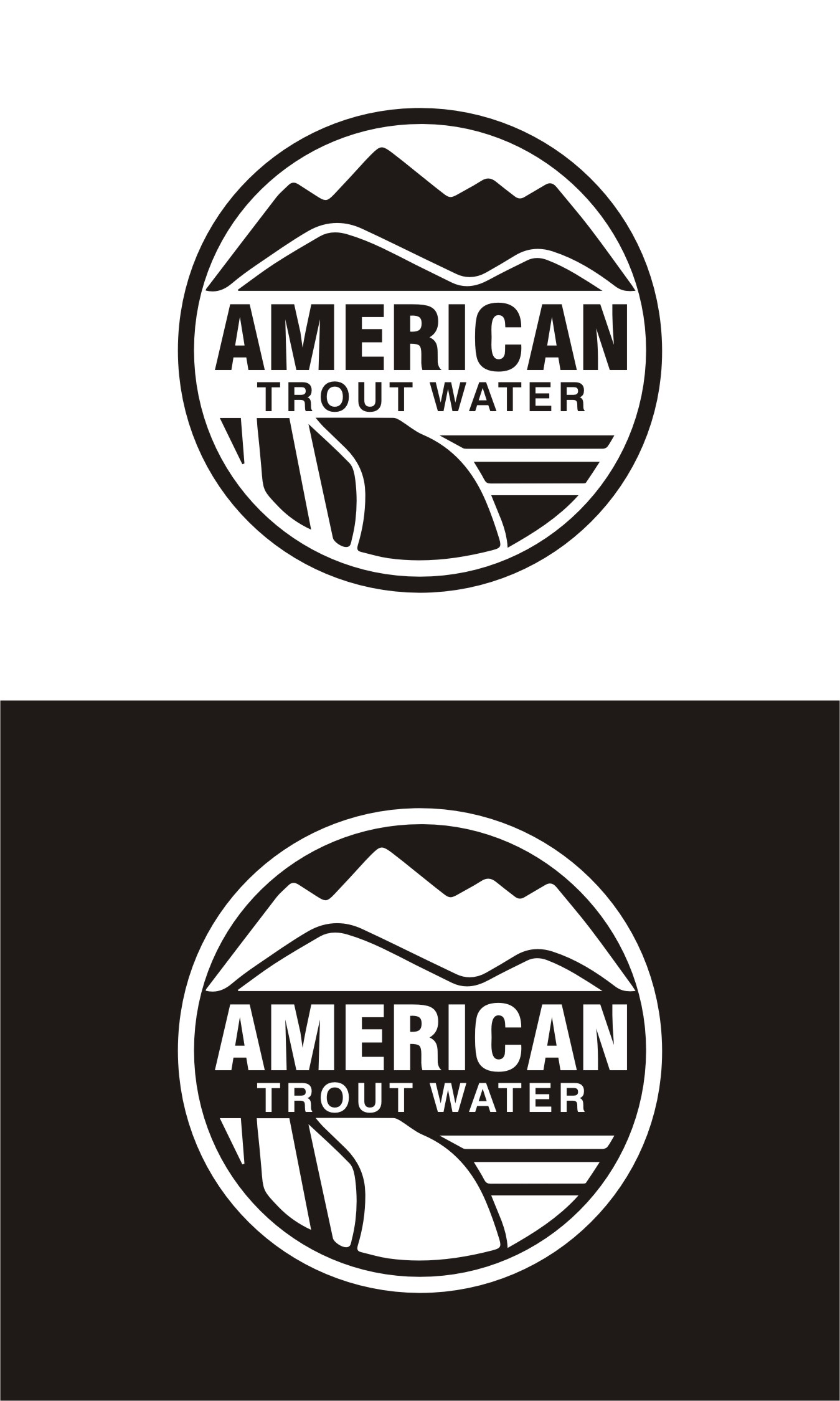 Logo Design by Spider Graphics - Entry No. 47 in the Logo Design Contest American Trout Water Logo Design.
