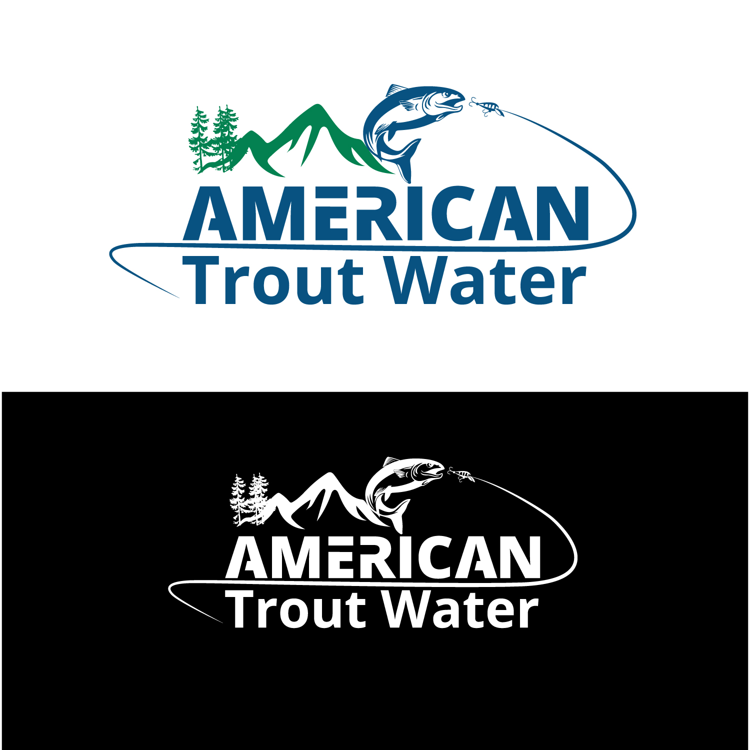 Logo Design by Bac Huu - Entry No. 52 in the Logo Design Contest American Trout Water Logo Design.