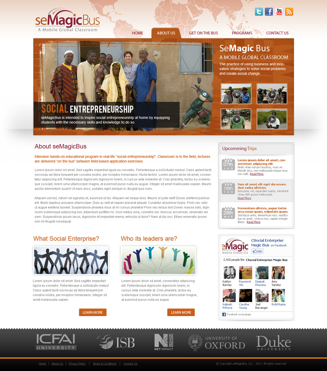 Web Page Design by Emad A Zyed - Entry No. 44 in the Web Page Design Contest seMagicBus Website.