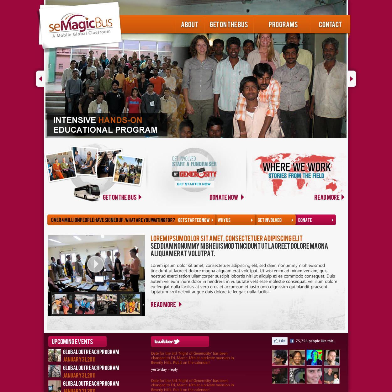 Web Page Design by johngabriel - Entry No. 46 in the Web Page Design Contest seMagicBus Website.