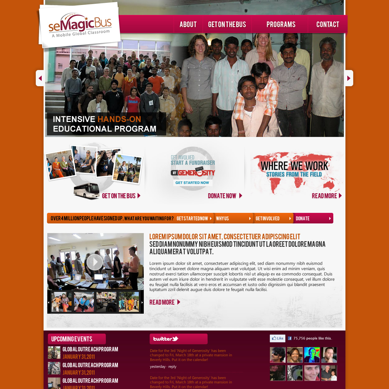 Web Page Design by johngabriel - Entry No. 47 in the Web Page Design Contest seMagicBus Website.