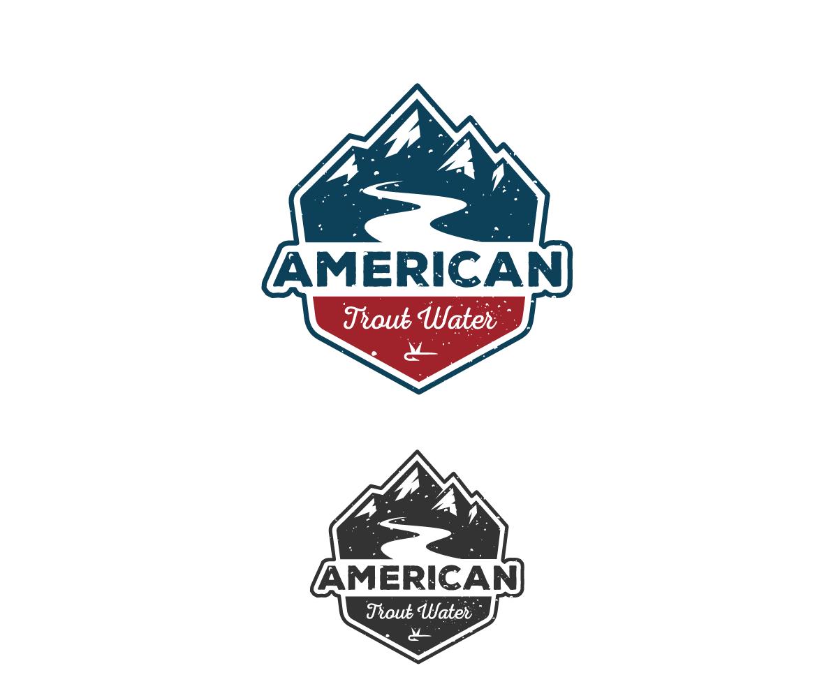 Logo Design by Juan Luna - Entry No. 60 in the Logo Design Contest American Trout Water Logo Design.
