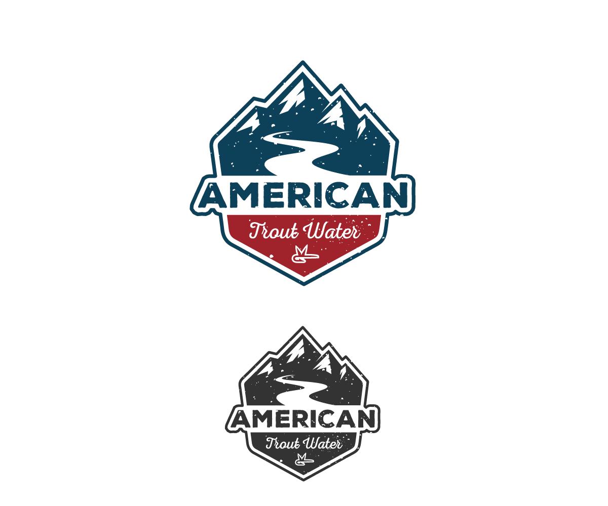 Logo Design by Juan Luna - Entry No. 61 in the Logo Design Contest American Trout Water Logo Design.