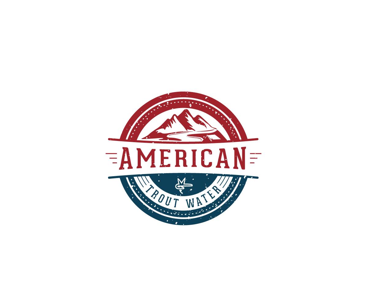 Logo Design by Juan Luna - Entry No. 62 in the Logo Design Contest American Trout Water Logo Design.