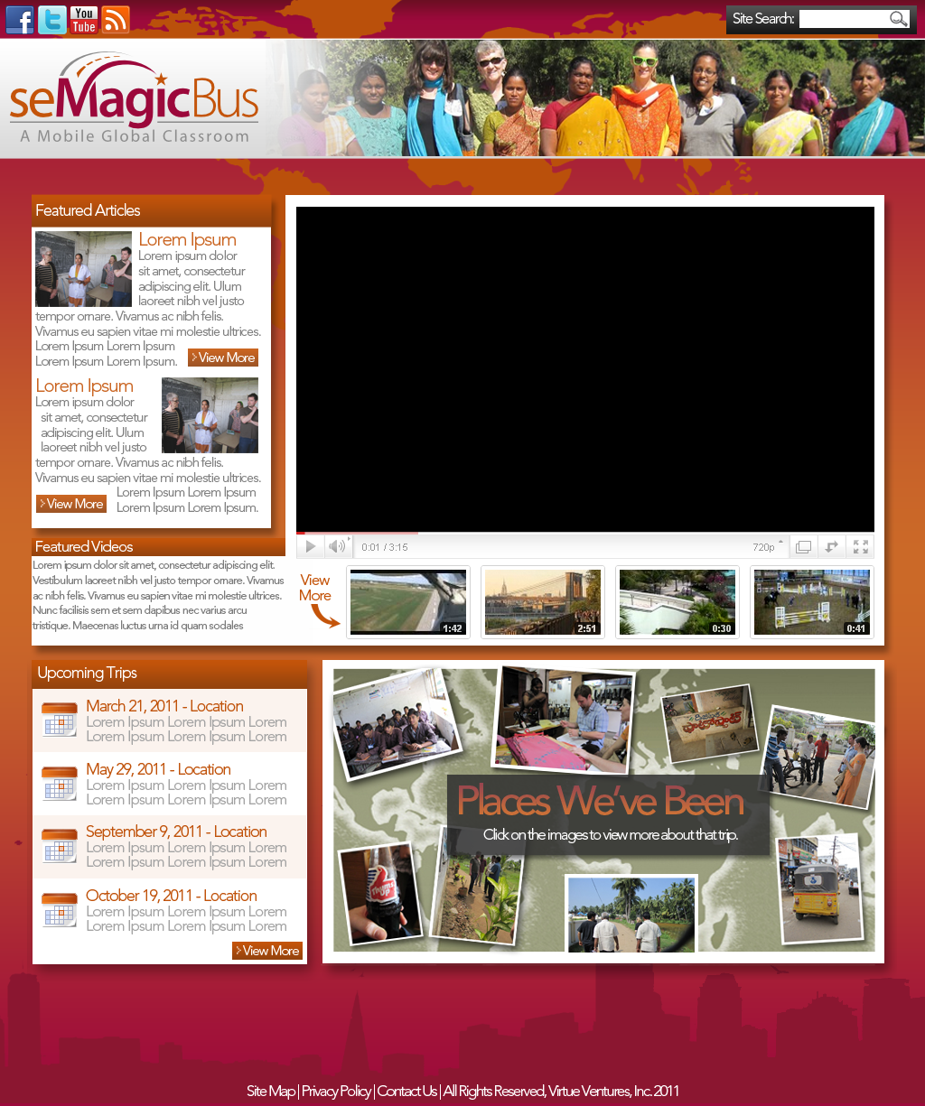 Web Page Design by bambino - Entry No. 48 in the Web Page Design Contest seMagicBus Website.
