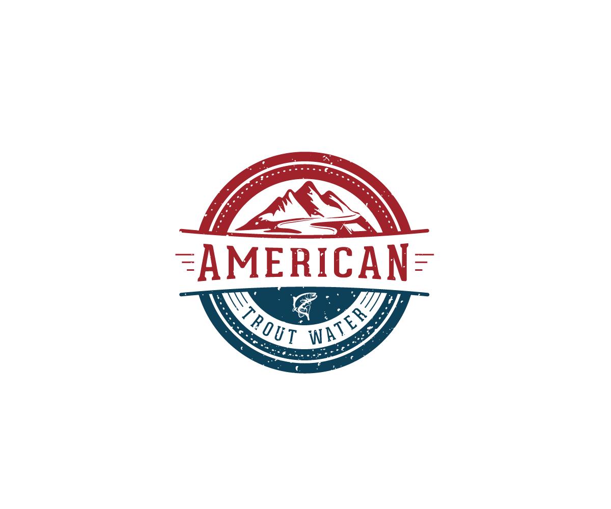 Logo Design by Juan Luna - Entry No. 64 in the Logo Design Contest American Trout Water Logo Design.
