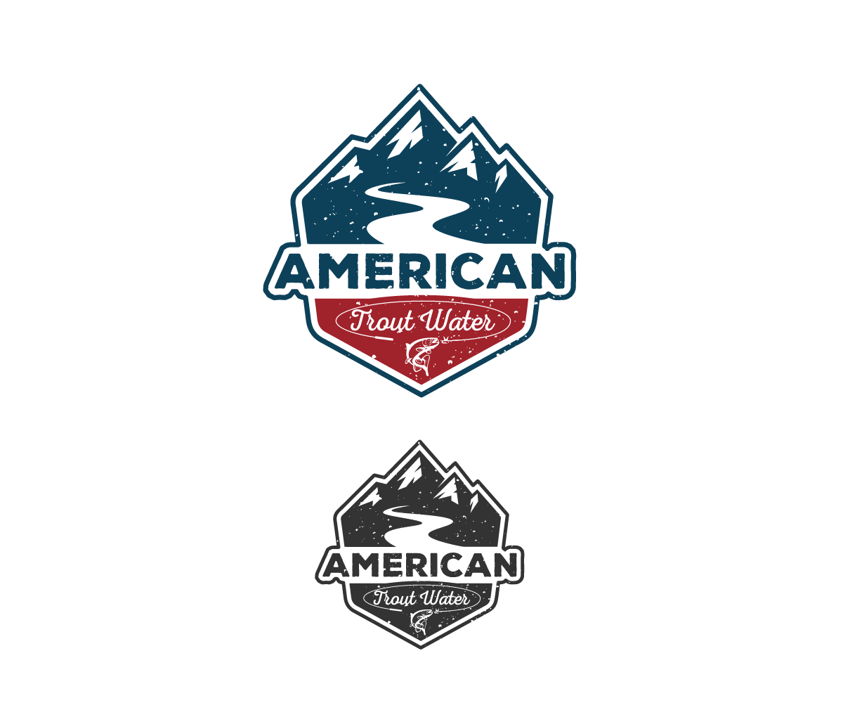 Logo Design by Juan Luna - Entry No. 65 in the Logo Design Contest American Trout Water Logo Design.