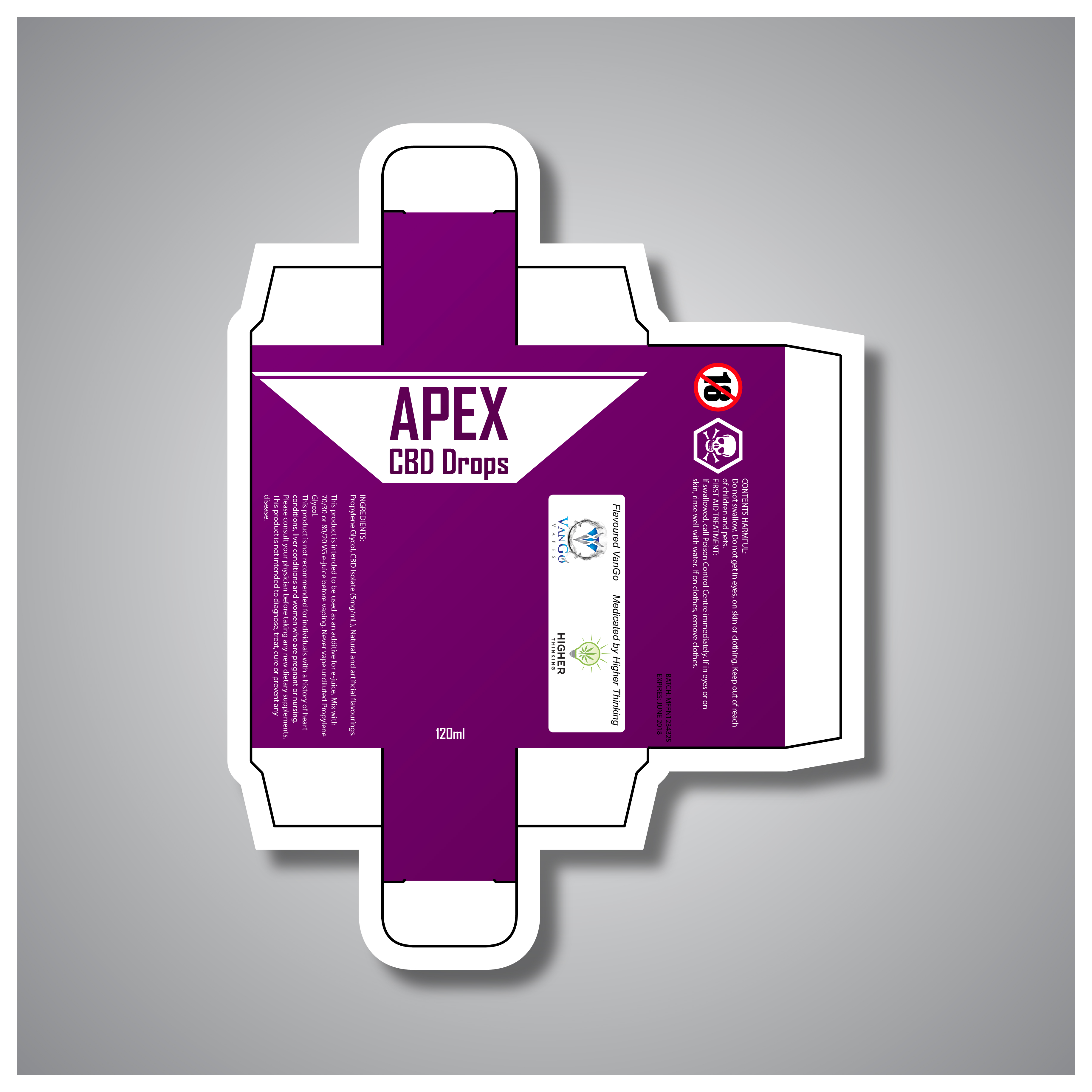 Packaging Design by chAnDOS - Entry No. 1 in the Packaging Design Contest Packaging Design for Apex CBD Drops!.